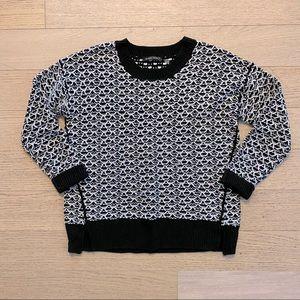 EUC Black and White Sweater Size L